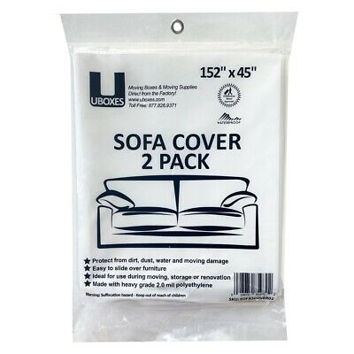 "2 - SOFA Covers 152"" x 45"" - Moving & Storage Bags"