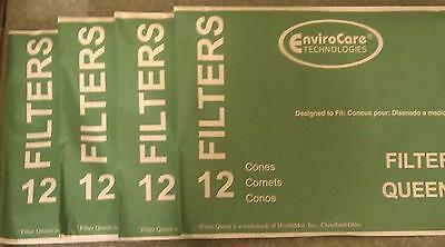 48 Cones & 8 Filters Majestic Filter Queen Vacuum Bags BRAND NEW SEALED PRODUCT
