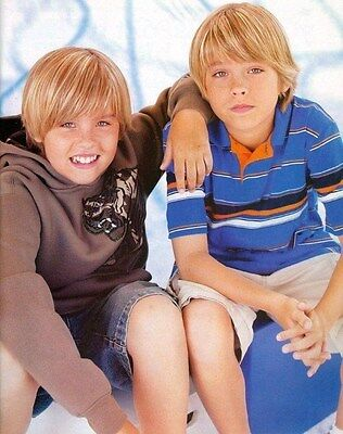 """DYLAN & COLE SPROUSE - 11"""" x 9"""" TEEN MAGAZINE POSTER PINUP BLOND BOY ACTOR"""