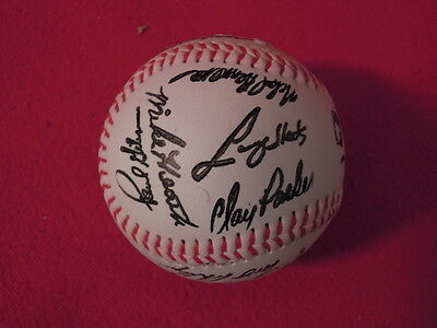 1990 Detroit Tigers Baseball Team Stamped Autograph Ball