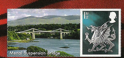 2007 GLORIOUS WALES SMILERS SINGLE STAMP from LS37 (my choice of label)
