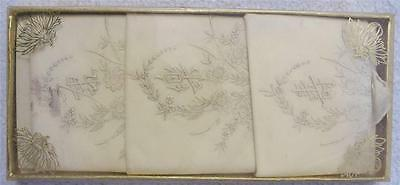 3 Antique Silk Embroidered China Chinese Handkerchiefs from China Town CA 1940s
