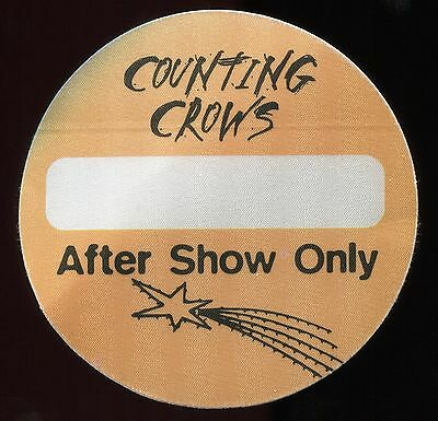 COUNTING CROWS 1996 Satellites Concert Tour Backstage Pass Authentic stage OTTO