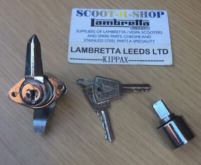 Lambretta Series 3 Li Sx Tv Lis Chrome Tool Box & Steering Lock Dual Key