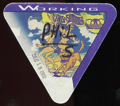 AEROSMITH 2002 Girls Of Summer Tour Backstage Pass!!! Authentic stage PERRI