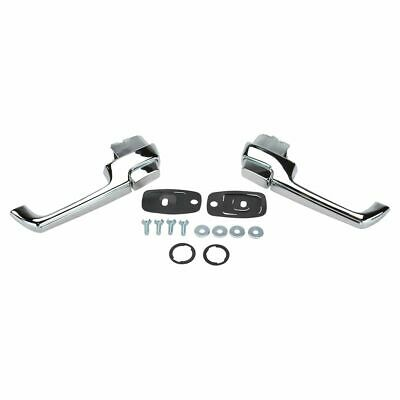 Chrome Front Outer Outside Exterior Door Handle Pair Set for Chevy GMC Pickup