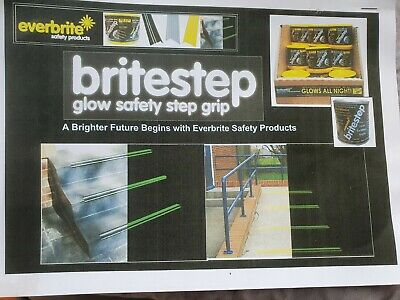 Glow In The Dark safety tread/stair nosing with anti-skid. Option of3 day colors