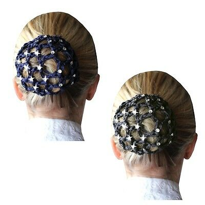 Equetech Crystal Show Bun Net - Black, Navy, Grey, or White **NEW COLOURS**