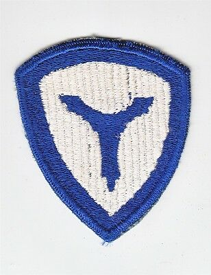Army Patch: 3rd Service Command - cut edge, WWII era