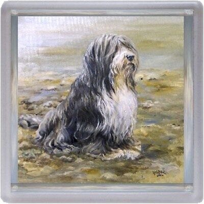 Bearded Collie Dog Coaster No 7 SH by Starprint - Auto combined postage