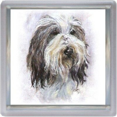 Bearded Collie Dog Coaster No 12 SH by Starprint - Auto combined postage