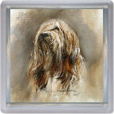Bearded Collie Dog Coaster No 9 SH by Starprint - Auto combined postage
