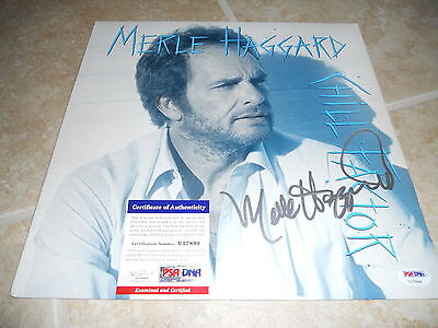 Merle Haggard Chill Factor Signed Autographed  LP Album Record PSA Certified