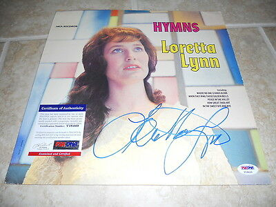 Loretta Lynn Signed Autographed Hymms MCA LP Album Record PSA Certified