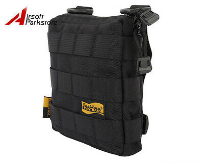 LooYoo Molle Tactical Military 1050D Cordura Accessory Shoulder Bag Pouch Black