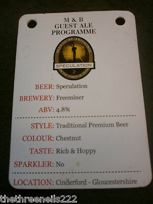 Beer Pump Clip Info Card - Freeminer Speculation