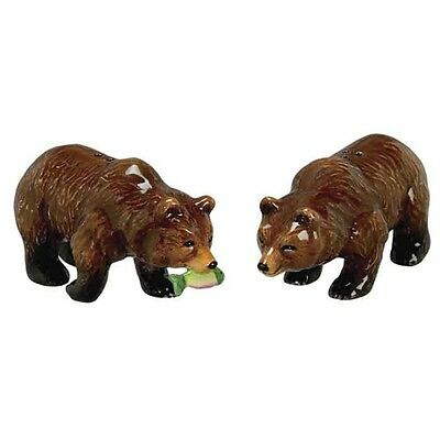 Andrea Sadek Ceramic Brown Bear Salt Pepper Shakers #61240 NIB *SHIPPING DISC*