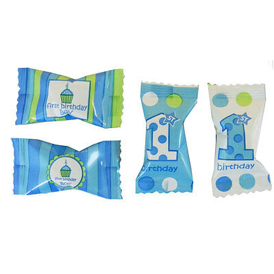 Blue Boy 1st Baby Birthday Party (Age 1 One)  BUTTERMINTS MINTS CANDY
