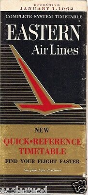 Airline Timetable - Eastern - 01/01/62