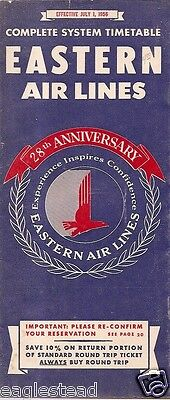 Airline Timetable - Eastern - 01/07/56