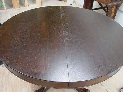 Antique Oak Dining Table with Clawfoot detail