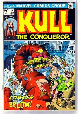 KULL the Conqueror #6 Lurker from Below! Marvel Comic Book ~ VF