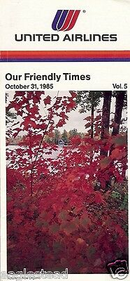 Airline Timetable - United - 31/10/85 - Vol 5 - Autumn New England cover