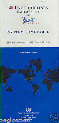 Airline Timetable - United - 12/09/95