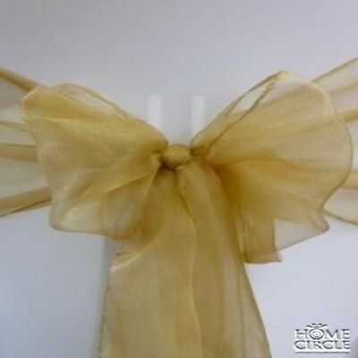 Gold Chair Bow Or Sash 6 Pieces/pack Ideal For Wedding Indoor Outdoor Party