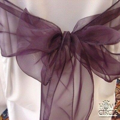 Purple Chair Bow Or Sash 6 Pieces/pack Ideal For Wedding Indoor Outdoor Party
