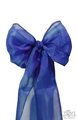 Blue Chair Bow Or Sash 6 Pieces/pack Ideal For Wedding Indoor Outdoor Party
