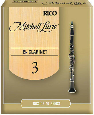 10 x Rico Mitchell Lurie Bb Clarinet Reeds # 3.0 strength *NEW* Box of 10