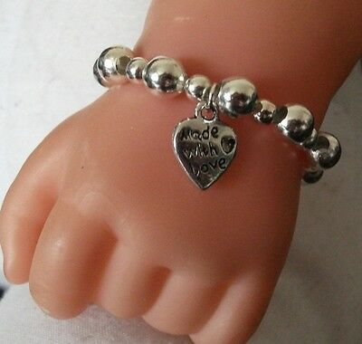 Baby Bracelet Made With Love Charm All Sizes And Various Colours