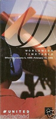 Airline Timetable - United - 05/01/99