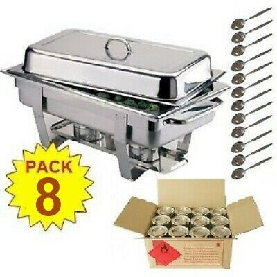 Pack 8 Olympia Stainless Steel Chafing Dish Sets ***Free Next Day Delivery***