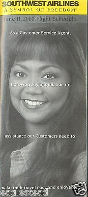 Airline Timetable - Southwest - 11/06/00 - Customer Service Agent
