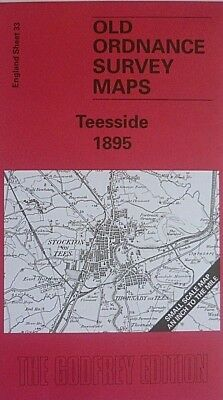 OLD OS Maps Darlington Stockton Middlesbrough Croft on Tees 1895 Godfrey Edition