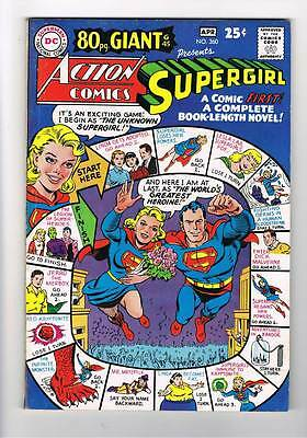 Action Comics # 360  80 page giant Supergirl  grade 8.0 super scarce hot book !!
