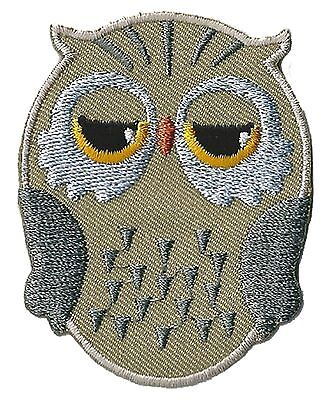 Patch écusson patche Hibou Chouette DIY thermocollant brodé