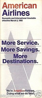 Airline Timetable - American - 02/03/82