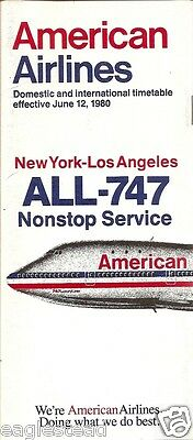 Airline Timetable - American - 12/06/80