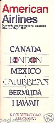 Airline Timetable - American - 01/05/84