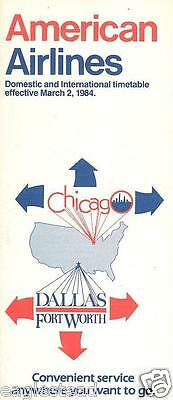 Airline Timetable - American - 02/03/84