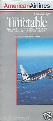Airline Timetable - American - 09/09/98