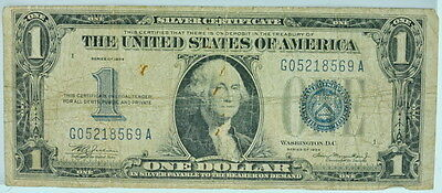 1934 United States Silver Certificate $1 Blue Stamp P25712