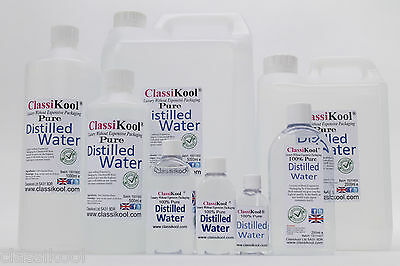 Classikool Pure Distilled Water - Deionized Then Distilled: 8 Different Sizes