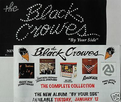 """BLACK CROWES """"BY YOUR SIDE IN STORES JAN 12th"""" 2-SIDED U.S. PROMO POSTER"""