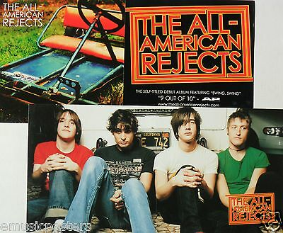 "ALL-AMERICAN REJECTS ""DEBUT ALBUM"" 2-SIDED U.S. PROMO POSTER/BANNER- Alternative"