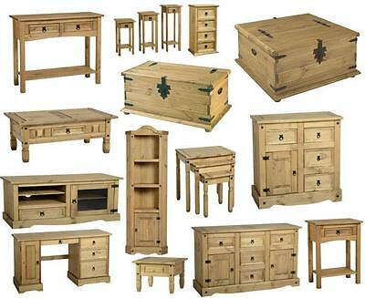 Corona Mexican Pine Living Room Furniture Chest Table Tv Unit Stands Shelves