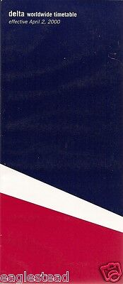 Airline Timetable - Delta - 02/04/00